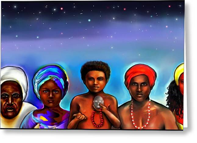 Santeria Orishas Greeting Card