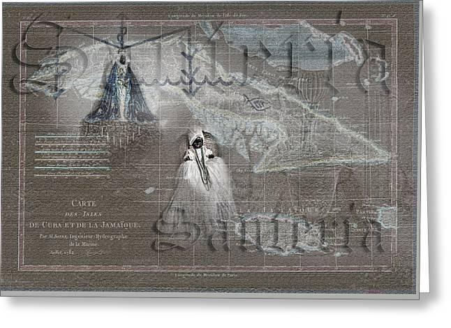 Santeria Greeting Card by Sharon Popek