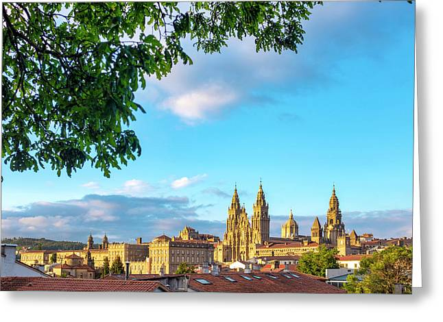 Greeting Card featuring the photograph Santiago De Compostela Cathedral by Fabrizio Troiani