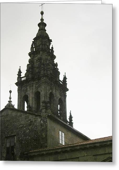 Santiago De Compostela Steeple Greeting Card by Halle Treanor