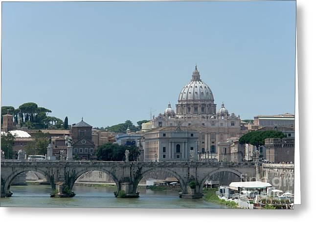 Santo Spirito And Vatican Greeting Card by Fabrizio Ruggeri
