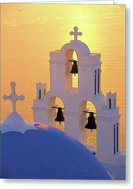 Thirasia Greeting Cards - Santorini 05 Greeting Card by Manolis Tsantakis