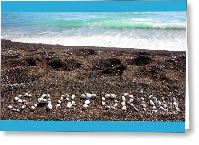 Santorini Greeting Card by Antonio Gravante