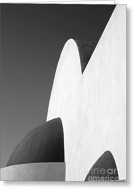 Santorini Chapel 2 Greeting Card by Rod McLean