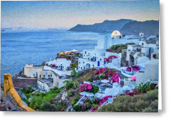 Santorini Greece Dwp416136  Greeting Card
