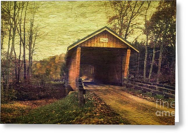 Santoy Covered Bridge #35-58-38 Morgan County Ohio Greeting Card by Robert Gardner