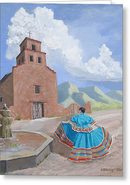 Santurario De Guadalupe Greeting Card by Jerry McElroy