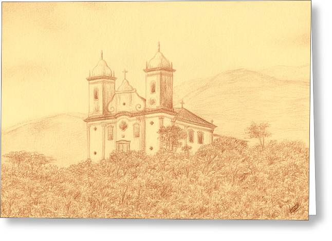 Sao Francisco De Paula Church Greeting Card by Enaile D Siffert