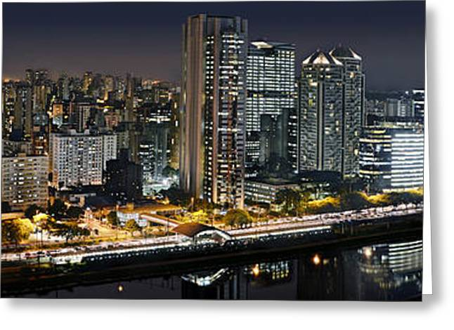 Sao Paulo Iconic Skyline - Cable-stayed Bridge  Greeting Card