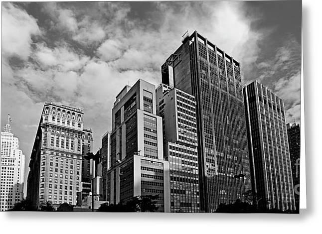 Sao Paulo - Vale Do Anhangabau - Main Buildings Greeting Card by Carlos Alkmin