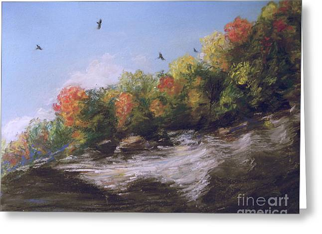 Soaring Over The North Rim, Autumn Greeting Card
