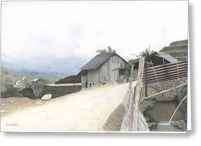 Sapa North Vietnam Greeting Card by Wilfrid Barbier