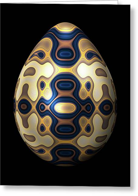 Sapphire And Gold Imperial Easter Egg Greeting Card