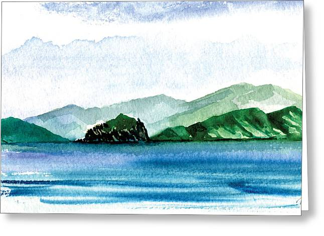 Sapphire Bay Greeting Card