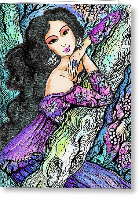 Sapphire Forest Greeting Card