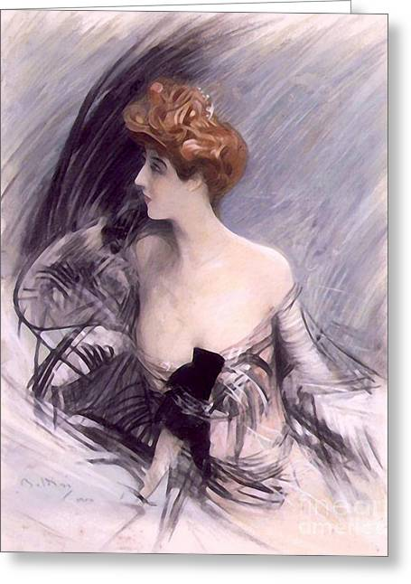 Sarah Bernhardt Greeting Card by Art Anthology