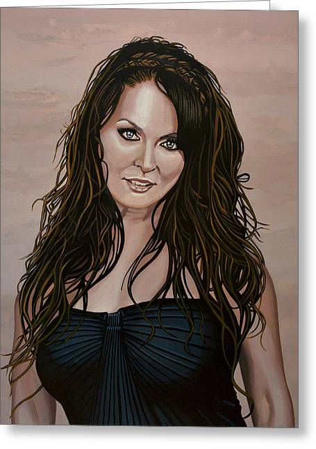 Sarah Brightman Greeting Card by Paul Meijering