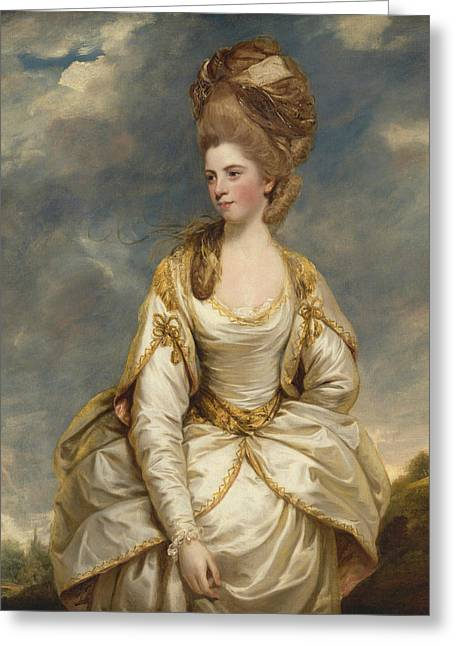 Sarah Campbell  Greeting Card by Joshua Reynolds
