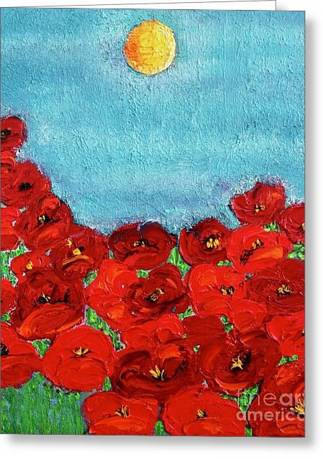 Sarah's Poppies Greeting Card