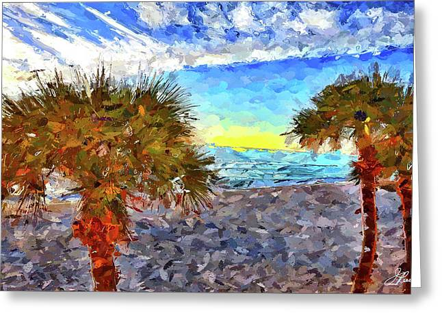 Sarasota Beach Florida Greeting Card by Joan Reese