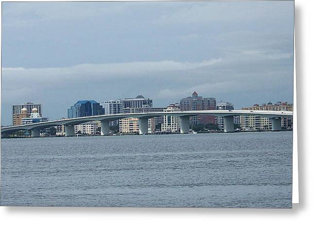 Sarasota Skylines Greeting Card by Amanda Vouglas
