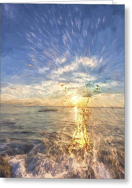 Sarasota Splash II Greeting Card by Jon Glaser