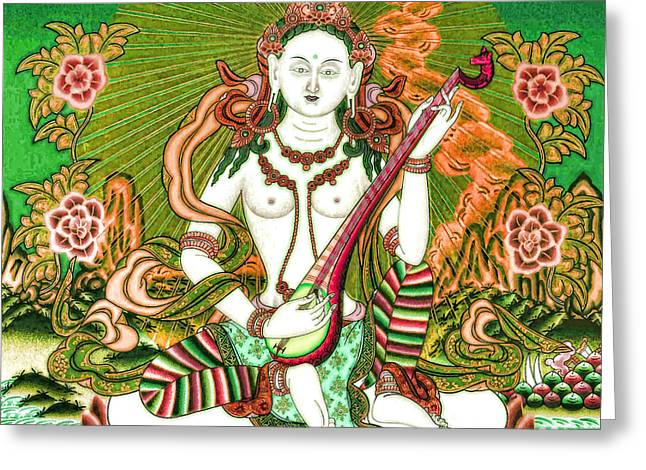 Saraswati 11 Greeting Card