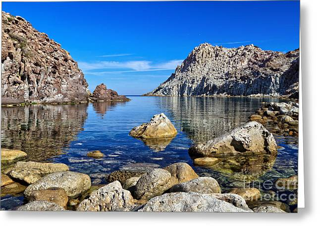 Sardinia - Calafico Bay  Greeting Card by Antonio Scarpi
