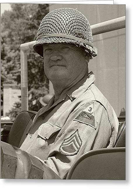 Sarge - Ww2 Reenactment - Fort Knox Ky Greeting Card by Thia Stover