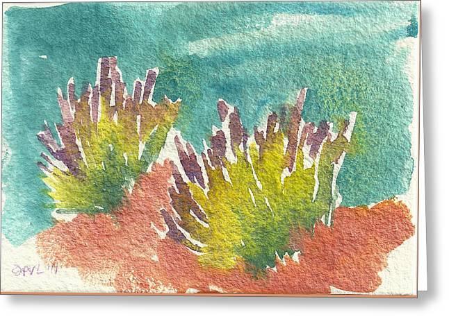 Sarris' Garden 5 Greeting Card