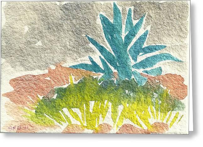 Sarris' Garden 6 Greeting Card