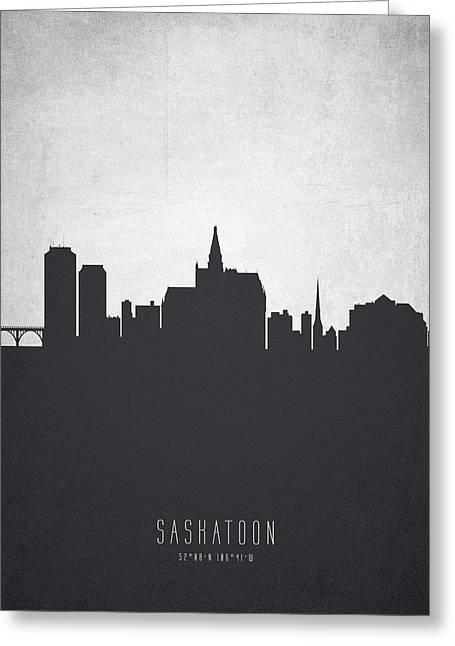 Saskatoon Saskatchewan Cityscape 19 Greeting Card