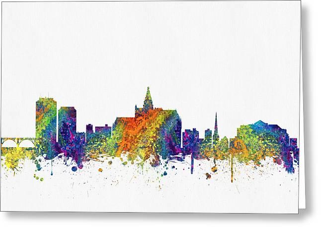 Saskatoon Saskatchewan Skyline Color03 Greeting Card
