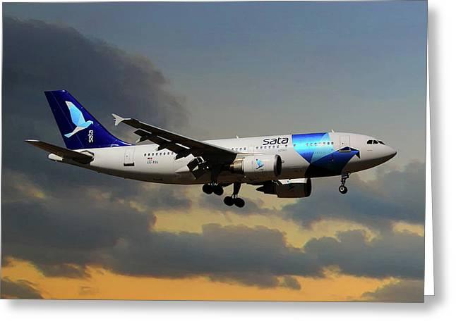 Sata Airlines Greeting Card