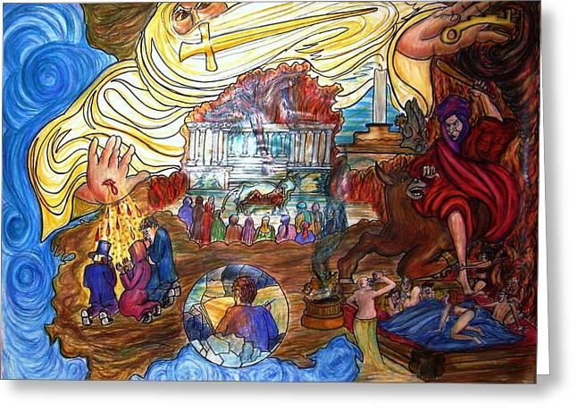 Satans Throne Greeting Card by Richard  Hubal