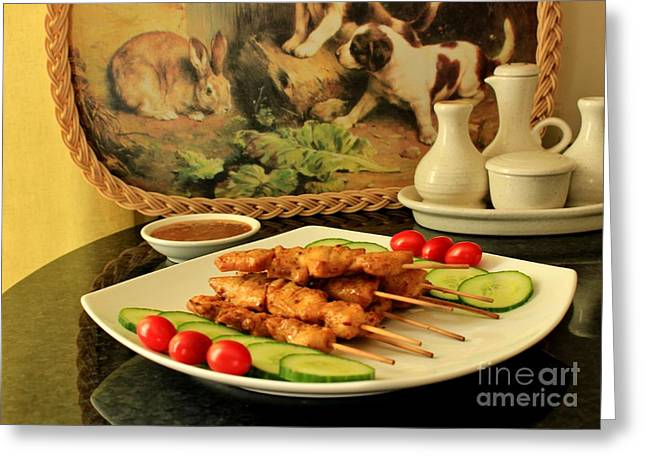 Satay Chicken Greeting Card