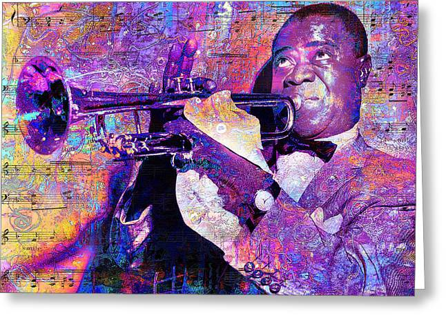 Satchmo Greeting Card by Mal Bray