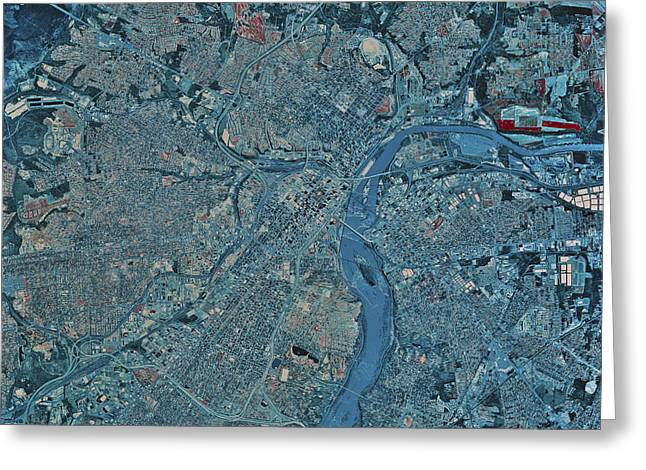 Urban Images Greeting Cards - Satellite View Of Richmond, Virginia Greeting Card by Stocktrek Images