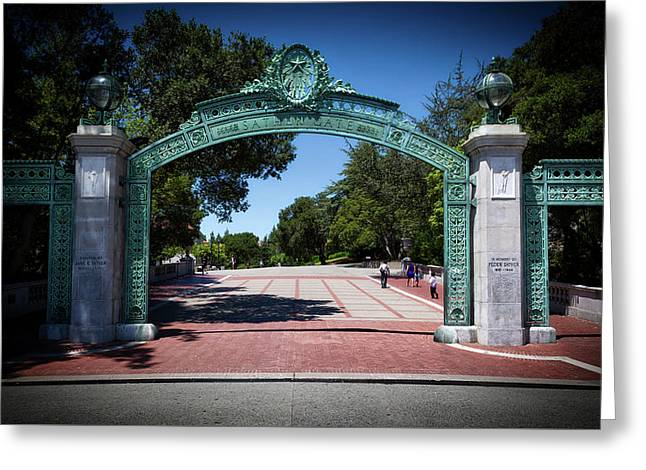 Sather Gate - Cal Berkeley  Greeting Card by Mountain Dreams