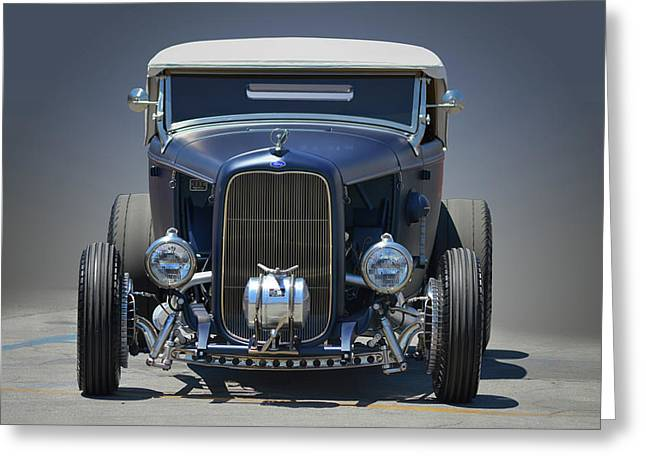 Greeting Card featuring the photograph Satin Blue Deuce by Bill Dutting