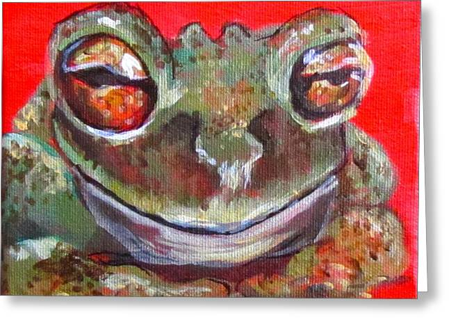 Satisfied Froggy  Greeting Card