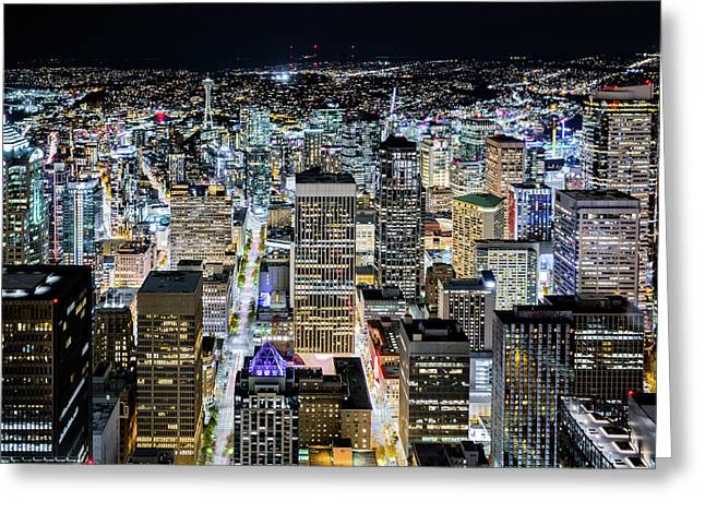 Seattle Lights Greeting Card