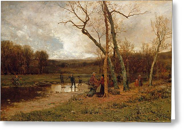 Saturday Afternoon Greeting Card by Jervis McEntee