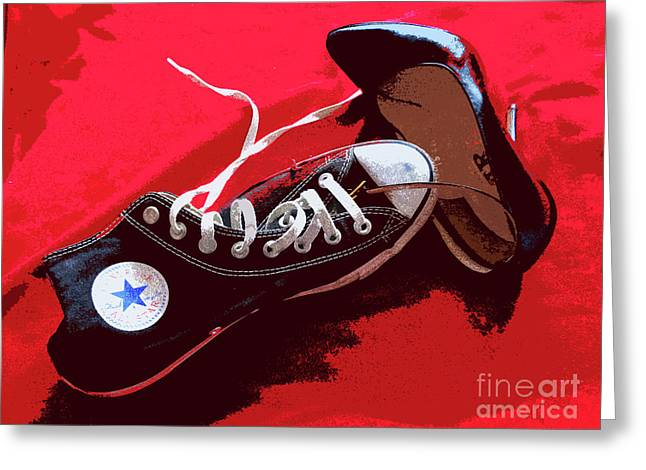 Living In Converse Saturday Night. Greeting Card