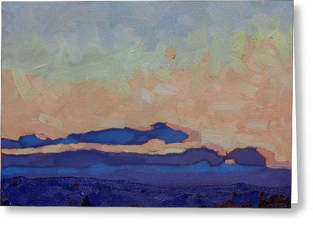 Saturday Stratocumulus Sunset Greeting Card