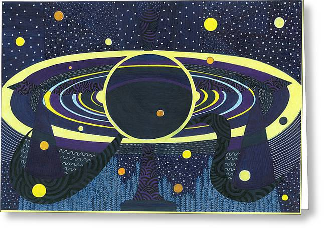 Saturday's Planet Is Saturn Greeting Card