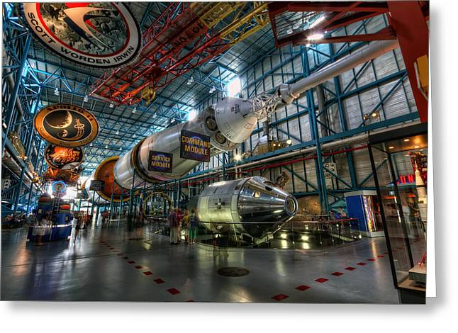 Saturn 5 Greeting Card by Brad Granger