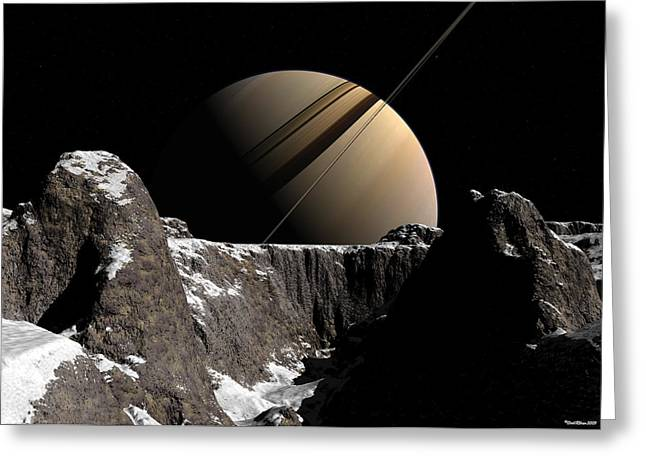 Saturn Rise Greeting Card