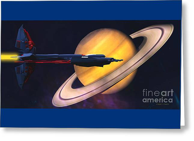 Saturn Visit Greeting Card