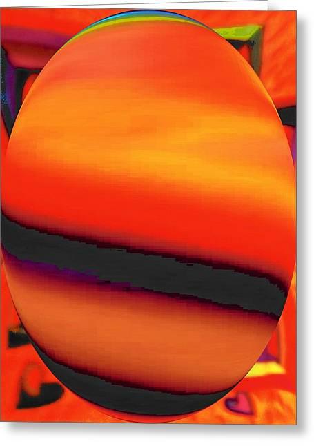 Abstract Digital Drawings Greeting Cards - Saturns Rings Greeting Card by Brenda Adams